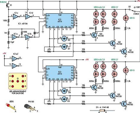 digital electronic circuits low cost dual digital dice circuit diagram