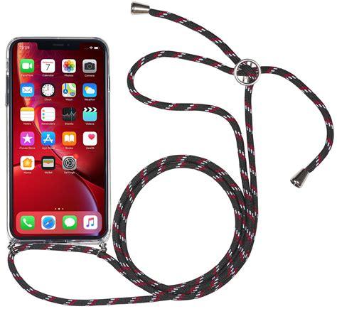 iphone xr lanyard plastic case  carrying strap stilgut