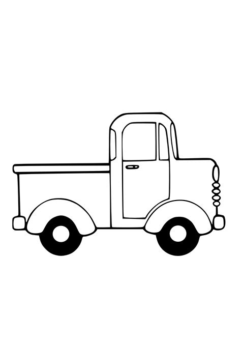 Truck Outline by Truck Outline Clipart Best