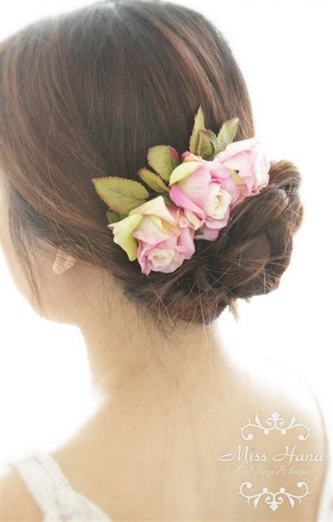 Vintage Purple Wedding Hair Accessories by Rustic Wedding Hair Accessories Flowers Bridal Hair