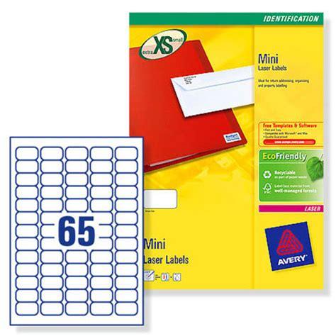 smallest printable avery label avery l7651 100 printer label