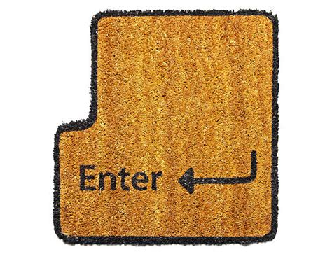Enter Doormat enter key doormat type with your toes