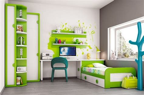 Children Room Furniture White Green Modern Bedroom Furniture Home Interiors