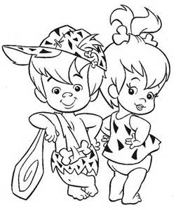 pebbles and bamm bamm ruble posing in the flintstones