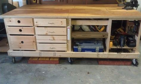 Fold Up Table Hinges My New Workbench By Vaprtral Lumberjocks Com