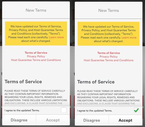 Mobile App Terms And Conditions Template update notice for changes in agreements termsfeed