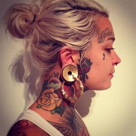 rose tattoo on neck girl face tattoos tumblr google search tattoo pinterest