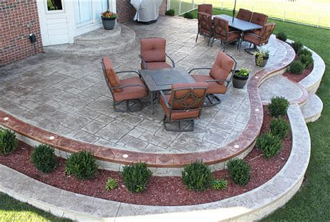 Stamped Concrete Backyard Ideas Stamped Concrete Patio Cost Ideas Amp 2017 Photos