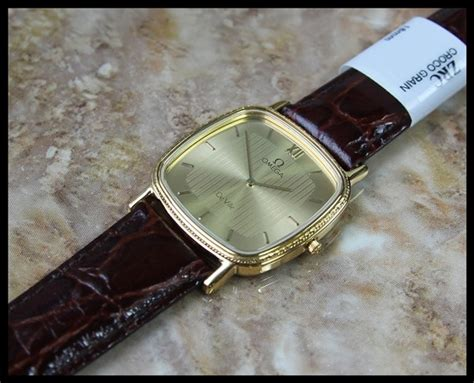 authentic swiss mens 10k real gold plated omega