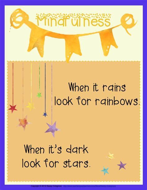 printable mindfulness poster 318 best printable activities for kids images on pinterest