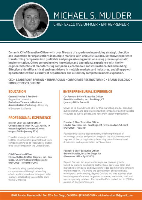 Great Formatted Resumes by Beneficial Ceo Resume Template Best Resume Format