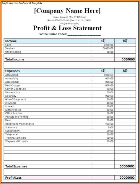 Self Employed Template Hairdressing Invoice Template Self Employed Blank Beauty Salon Profit And Loss Statement Template For Self Employed