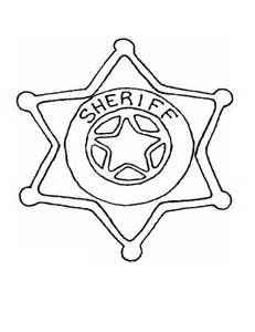 Sheriff Coloriage Picture sketch template