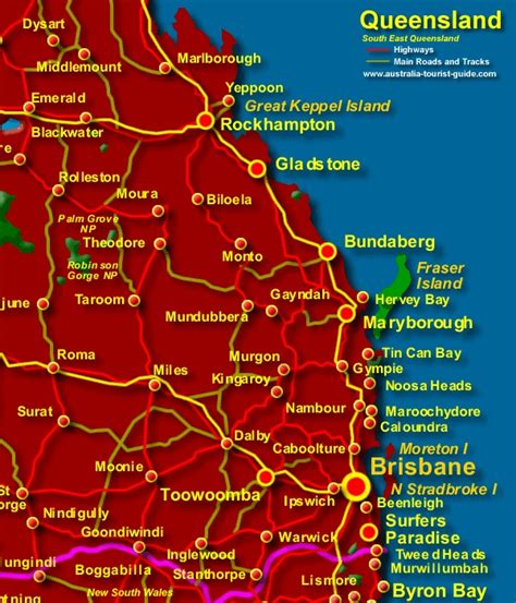 east coast australia map map of south east queensland australia