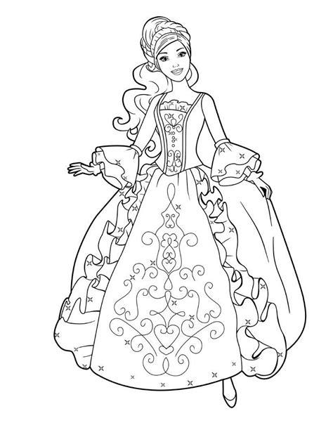 imagenes para colorear de princesas dibujos de barbie princesa para colorear para colorear