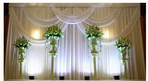 how to make drapes for wedding free shipping simply 3x3m elegent white with swag pleated