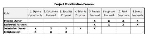 project prioritization criteria template project management from the sponsor s desk nine