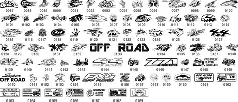 road stickers collection  vector cdr