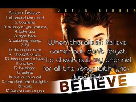 download mp3 full album believe justin bieber track listing of the album quot believe quot by justin bieber