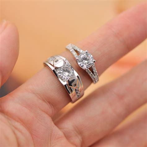 cubic zirconia engagement rings set for and