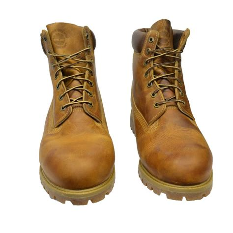 mens boots size 12 timberland timberland 6 inch anniversary orange osf 5