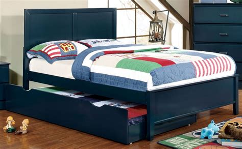 blue platform bed prismo blue youth platform bedroom set from furniture of america cm7941bl t bed