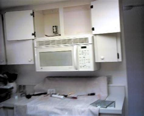 How To Install Cabinet Microwave by Todd S Home Repair Microwaves Ovens