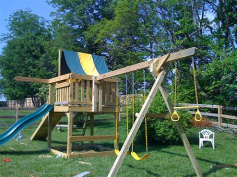 building a swing set diy how to build a swing set plans free