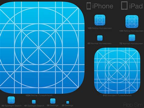 ios7 icon template psd freebiesbug