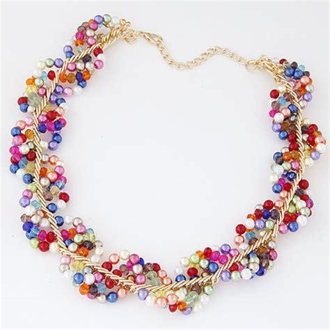 Korean Handmade Jewelry - fashion korean handmade statement bib necklace