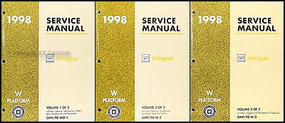 online auto repair manual 1998 oldsmobile intrigue on board diagnostic system 1998 oldsmobile intrigue repair manual 3 volume set 98 service shop book ebay