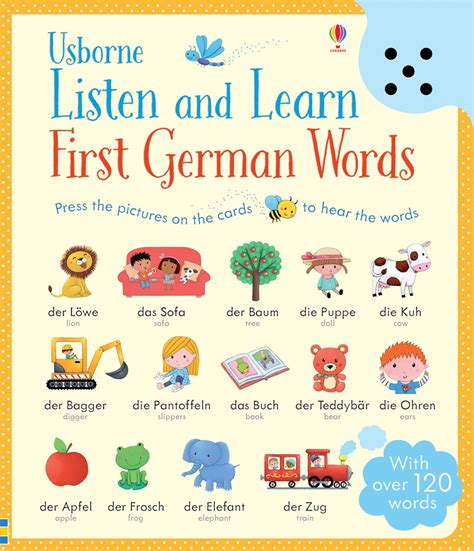 In German by Listen And Learn German Words At Usborne Children