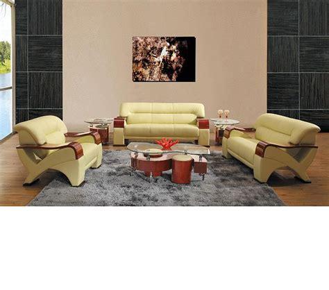 beige colour sofa set dreamfurniture 2034 contemporary leather sofa set in