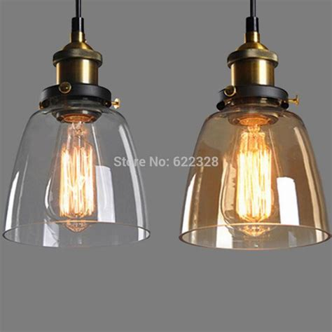 New Pendant Lighting New Vintage Industrial Diy Ceiling L Light Glass Pendant Lighting Edison Bulb