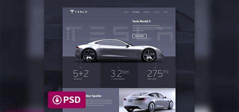 Tesla Web Site Tesla Website Concept Free Psd Designermill