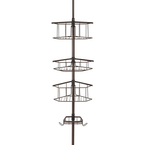 Corner Shower Caddy Tension Pole by Homecrate Three Tier Corner Tension Pole Shower Caddy 9 Ft