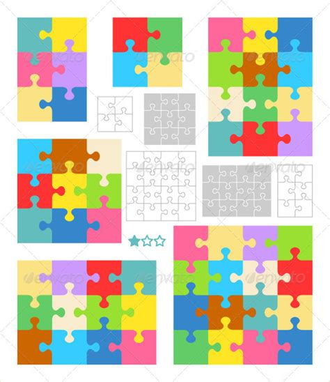 puzzle pattern ai puzzle template blank puzzle template free premium