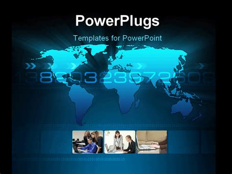 free animated business powerpoint templates concept of a world map animated powerpoint template