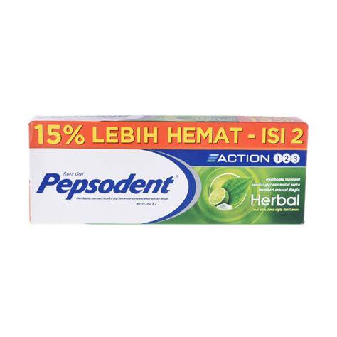 Pasta Gigi Pepsodent 123 jual pepsodent 123 herbal toothpaste value pack 2