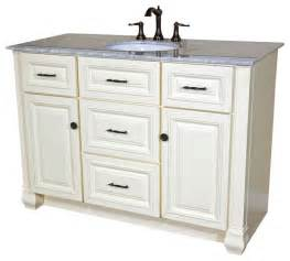 single sink bathroom vanities 50 inch single sink vanity heirloom white traditional