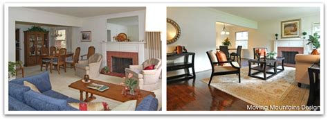 before and after staging south pasadena livingroom before and after home staging