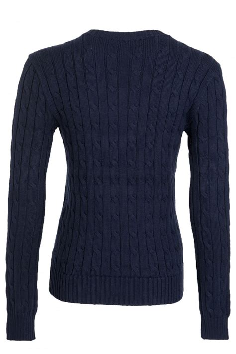 ralph navy cable knit jumper ralph ralph polo julianna womens cable knit