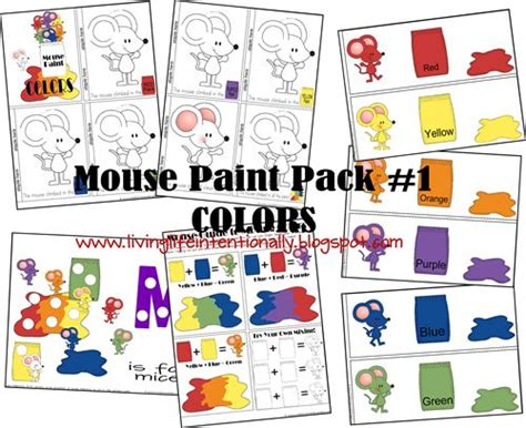 free mouse paint tot preschool pack includes activities to reinforce colors color mixing
