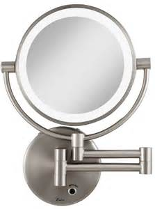 Makeup Mirror With Lights Cordless Zadro 5x 1x Magnification Cordless Led Lighted Wall Mount