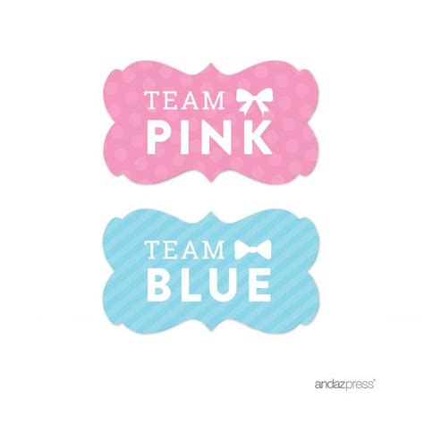 Wholesale Home Decorations Team Pink Team Blue Gender Reveal Baby Shower Party Fancy