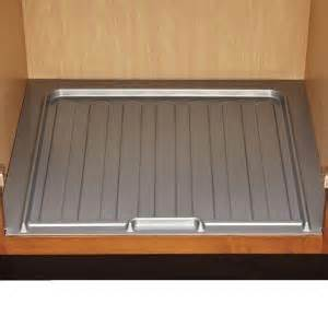 kitchen cabinet liner home decorators collection 34 5x1x23 25 in sink base drip liner for 33 36 in cabinets in gray