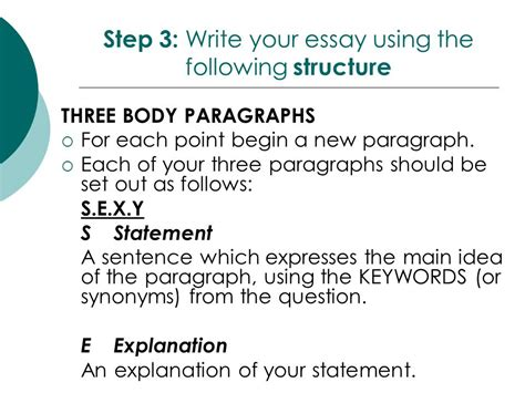 Essay Structure Year 10 by Year 10 Response To Text Essay Writing Ppt