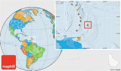 where is barbados on world map political location map of barbados