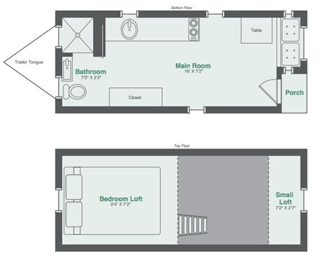 floor plans for small houses monarch tiny homes makes this 8x20 tiny house model
