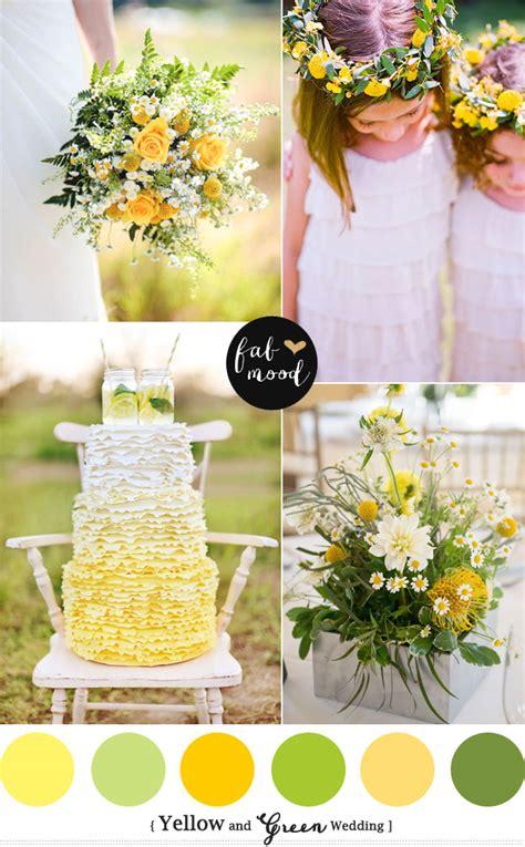 yellow green wedding colors yellow green wedding motif
